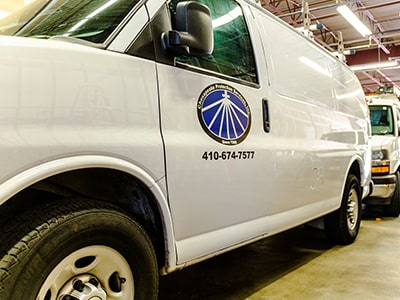 Chesapeake Protection Services, Inc Service Vans
